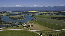 Flathead Valley aerial view